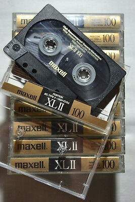 📻 10x Maxell XL-II 100 Chrome - good condition audio tapes cassettes Kassetten