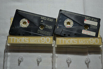 📻 02x That's MG-X 90 Metal IV - good condition audio tapes cassettes Kassetten