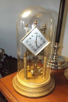 Vintage 1950's Kieninger & Obergfell 400 Day Anniversary Dome Clock AS IS Restor