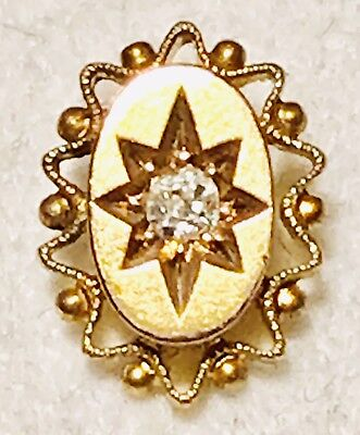 💎beautiful Old Antique Victorian 9Ct Gold & Removable 💎diamond 💎stick Pin 💎