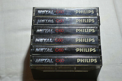 📻 05x Philips Metal C60 IV - good condition audio tapes cassettes Kassetten
