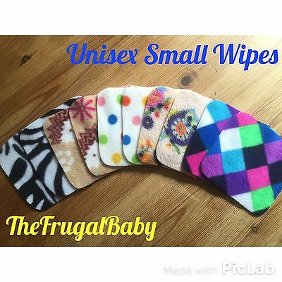 Fleece Reusable Small Wash Wipes x10 Brand New ⭐️UNISEX MIX⭐️