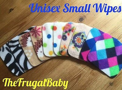 Fleece Reusable Small Wash Wipes x 10 Brand New ⭐️UNISEX MIX⭐️