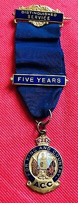 A.c.c. For King And Country 5 Year Distinguished Service Medal To H. Catlow 1951