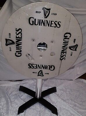 Superb Statement Upcycled Drum Flip Top Guinness Table Ideal Focal Point Table
