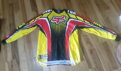 Fox Racing Motocross Jersey Red Black and Yellow