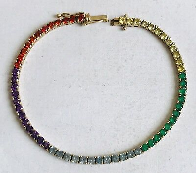 9Ct Bracelet Set With Multiple Gems X5 Types In Multiples Of 12 = 5 X Sections