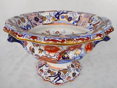 """19Th Century Mason's Ironstone Fruit Or Wine Cooler - """"vase And Flowers"""" Pattern"""