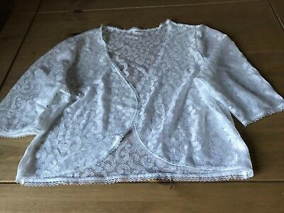 White lace shrug jacket