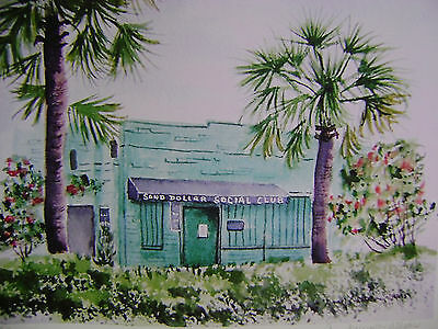SAND DOLLAR SOCIAL CLUB FOLLY BEACH, S. C. No. 1 SIGNED AND NUMBERED PRINT