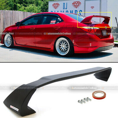 For 14-18 Toyota Corolla E170 ABS Unpainted Mugen Style 4Pic Trunk Wing Spoiler