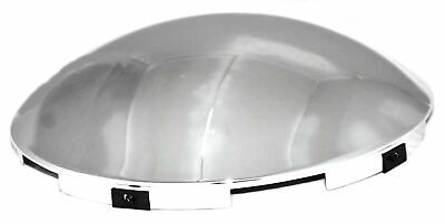 "hub cap front 5 notch dome chrome for Peterbilt KW FL steel wheel 7/16"" lip each"