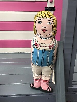 Bethnall Green Museum Vintage Old Cloth Girl Rag Doll - Antique Old English Toy