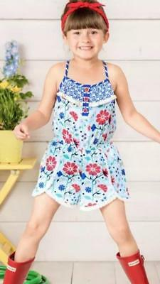 NWOT Matilda Jane TUG OF WAR ROMPER 4 Girl's One Piece Floral Fringe Hem