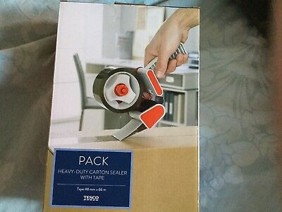 New Heavy Duty Carton Sealer With Tape Great For Christmas 🎄Parcels