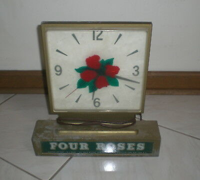 Four Roses Whiskey Electric Clock  - Vintage