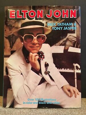 ELTON JOHN by Dick Tatham & Tony Jasper Octopus 1976 Hard cover w/dust jacket NM