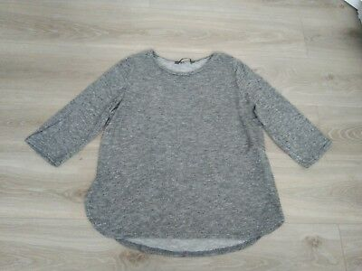 New maternity jumper size 18 grey silver top sweatshirt