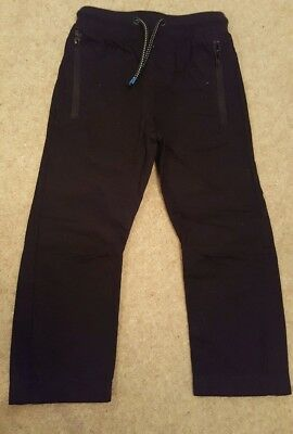 Next Black Boys Trousers Age 4-5 Immaculate