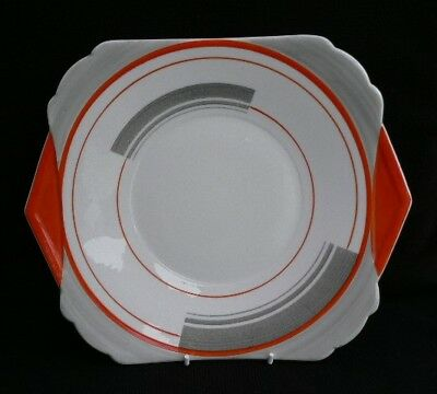 Shelley Regent shape cake plate 'Bands and Lines'