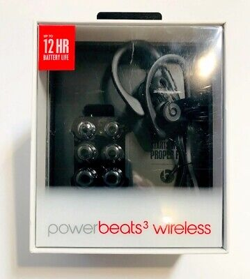 Beats by Dr. Dre Powerbeats 3 Wireless In Ear Headphones Authentic - Black