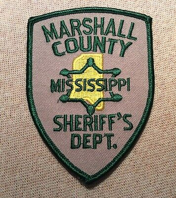 MS Marshall County Mississippi Sheriff Patch