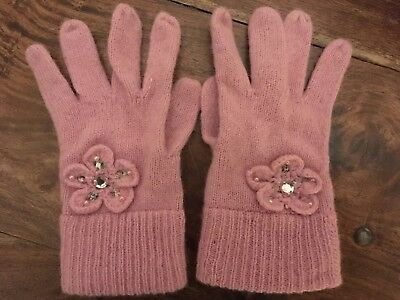 Girls Monsoon Pink Knitted Gloves