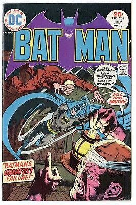 Batman #265 VF/NM 9.0 ow/white pages  DC  1975  No Reserve