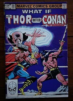 What If? #39, What If Thor Battled Conan The Barbarian, Marvel Comics, 1983, Fn-