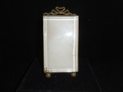 """Petit antique French bevelled glass and ormolu picture frame. c1860 5"""""""