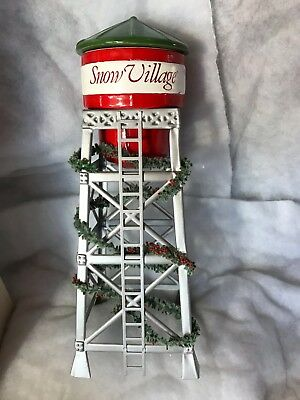 "Snow Village ""watertower"" Accessory #51330 Rare Retired Added Garland"