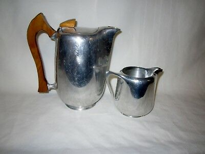 Vintage Picquot Ware coffee pot (smooth side) and milk jug