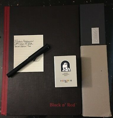 Lamy Safari All Black Special Edition - 3 Oysters Ink Hangangmul - Black n' Red