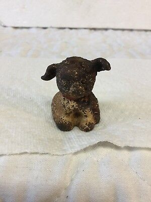 Antique Hubley Cast Iron Paperweight Puppo Fido Puppy Dog Artist Grace Drayton