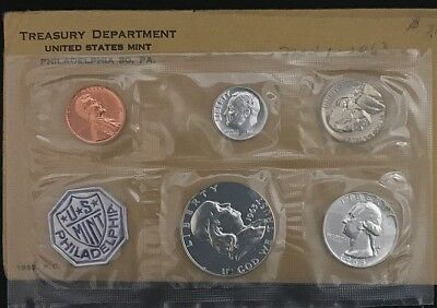 1963 Silver 5 Coin PROOF Set 1C, 5C, 10C, 25C, 50C * US Mint Flat Pack *