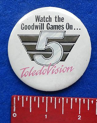Rare 1990 Seattle Goodwill Games Tv Channel 5 Toledo Vision Television Media Pin