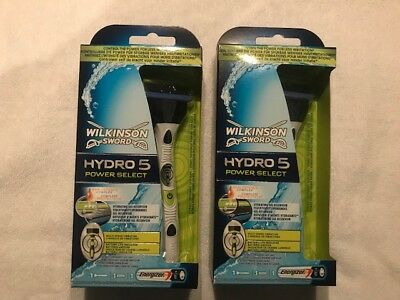 2 Wilkinson Sword Hydro 5 Power Select Nassrasierer + 2 Klingen + Batterien  NEU