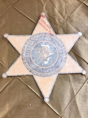 Illinois State Police Vintage 6 point Star Squad Car Decal in good condition