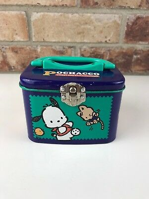 Sanrio Vintage Pochacco purple tin box small