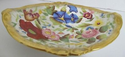 Hammersley QUEEN ANN ANNE Candy Nut Trinket Dish Floral Gold Brushed Edge