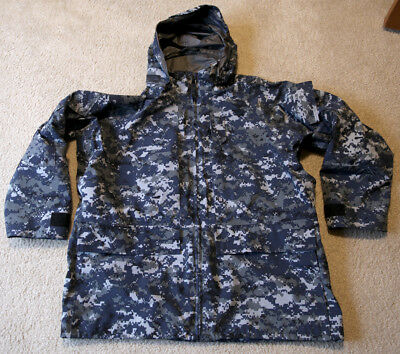 NWU USN Navy Working Parka Gore-tex Digital Camo Men's XL, Reg