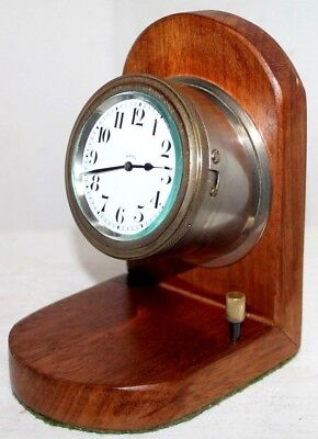 "Antique Rare Swiss ""octo""  8 Day Marine /aircraft / Auto Dashboard Cluster Clock"