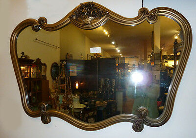 Vintage Large Wall Mirror,Sofa,Couch,Wood & Plaster Body,Flower Basket Design