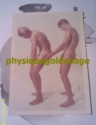 Stamped Rare J BRIAN COUPLE vtg 60s blond baby oil male nude twink beefcake gay