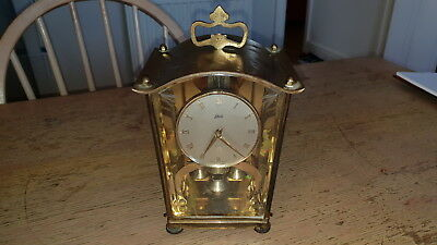Vintage Schatz & Sohne 400 Day Anniversary German Torsion Mantel Clock