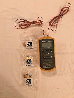 Omega Temperature Probe Recorder HH501DK Handheld Thermometer Type K VGC