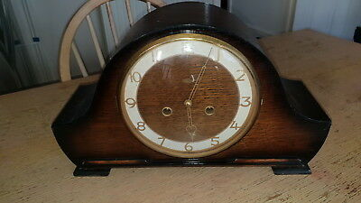 Large Art Deco Era Smiths Enfield Chiming Mantle Clock W/o
