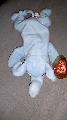 Ty Beanie Baby Peanut The Elephant With Tags And Tag Protector 1/25/95 style4062