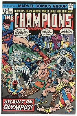 Champions #3 NM- 9.2 ow/white pages  Marvel  1976  No Reserve