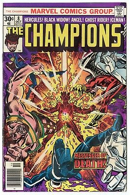 Champions #8 NM- 9.2 ow/white pages  Marvel  1976  No Reserve